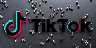 tiktok logo over magnetic beads