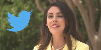 Anna Paulina Luna and the Twitter logo