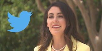 Anna Paulina Luna and the Twitter logo