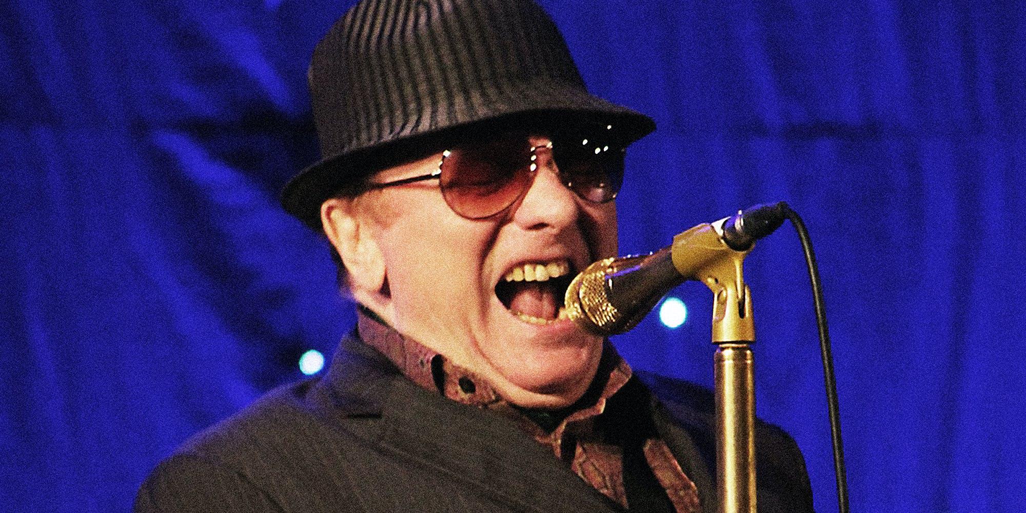 Van Morrison singing.