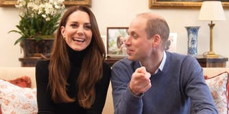 Princess Kate and Prince William on couch