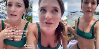TikToker Savannah Sims recalling how woman made her leave beach