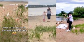 Karen attempts to interrupt beach proposal