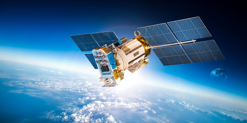 A satellite in space.