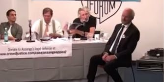 Roger Waters discussing Zuckerberg's request at forum