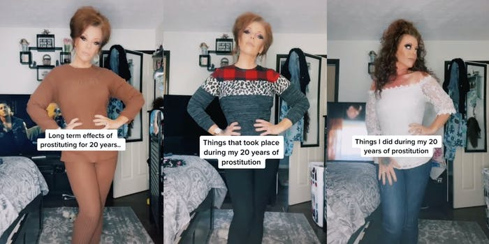 TikTok user trashley_anonymous detailing life as a sex worker
