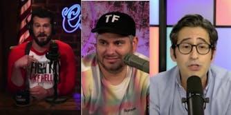 three men on camera