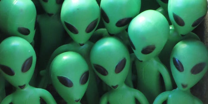 A group of green aliens