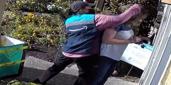 amazon driver punching 67-year-old-woman