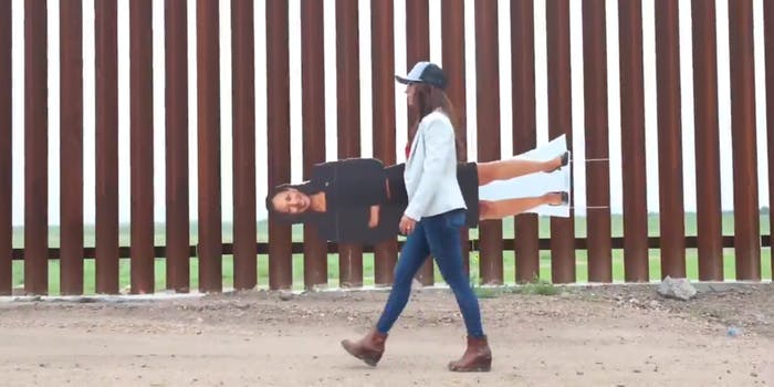 Lauren Boebert Cardboard Cutout: Border Video Fake Harris Mocked