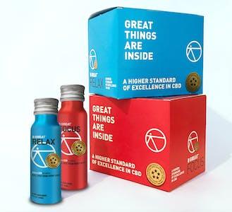 B GREAT cannabidiol drinks energy shot and melatonin shot