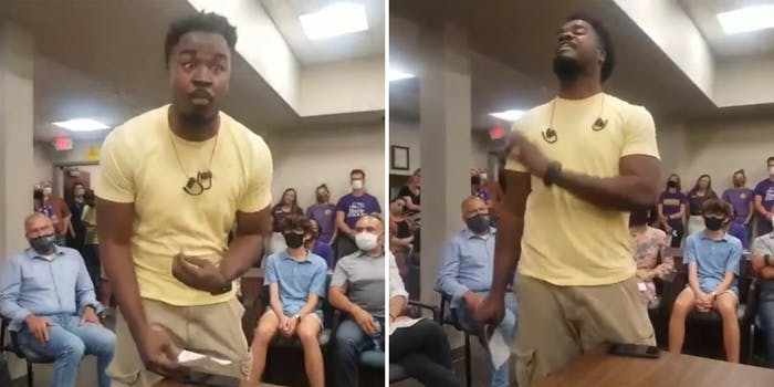 Black man speaks to mostly white crowd about critical race theory