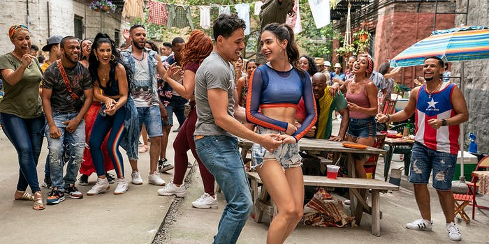 People dancing at a block party in Brooklyn.