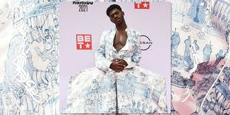 Lil Nas X wearing a dress.