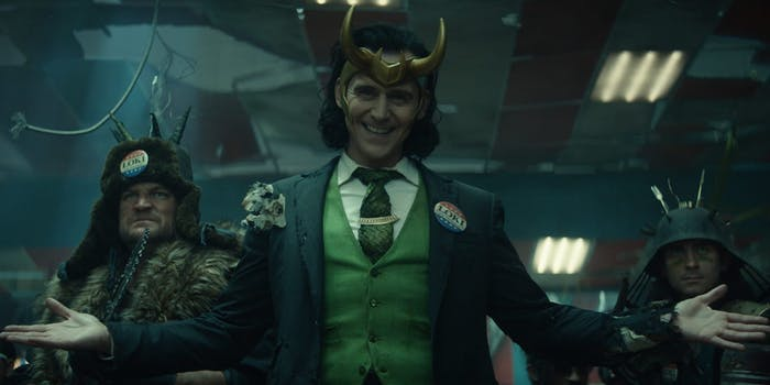 loki in the disney plus series. loki has become a genderfluid and queer icon among Marvel fans.