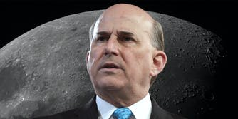 confused louie gohmert with moon background
