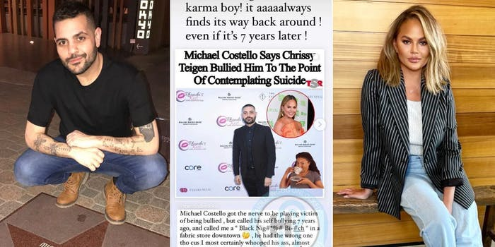 michael costello, maxine james' accusation that costello called her the n-word, chrissy teigen