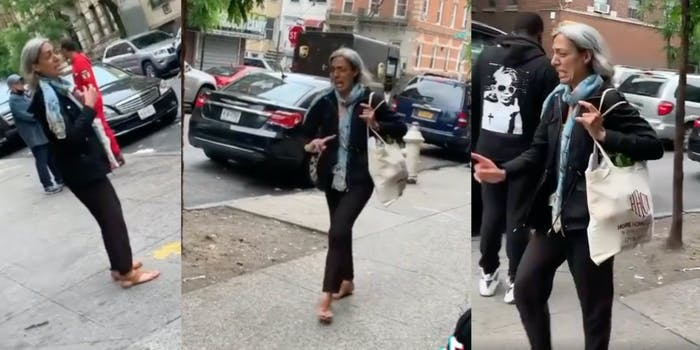 karen who accused two black women of threatening to kill her after uspecting them o stealin g charger on the street