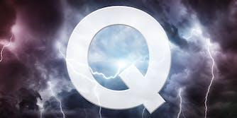Q over lightning storm