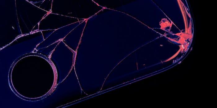 A broken iPhone.