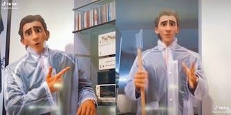 """American Psycho scenes with TikTok's """"Pixar"""" filter"""