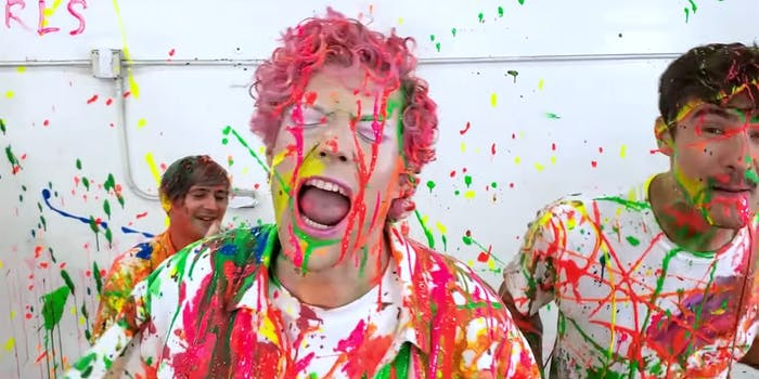 band members covered in paint