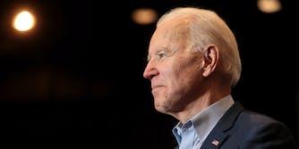 President Joe Biden looking off to the left.