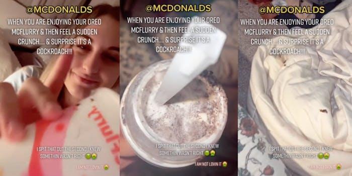 McDonald's McFlurry cockroach