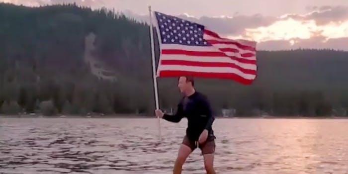 Mark Zuckerberg American flag