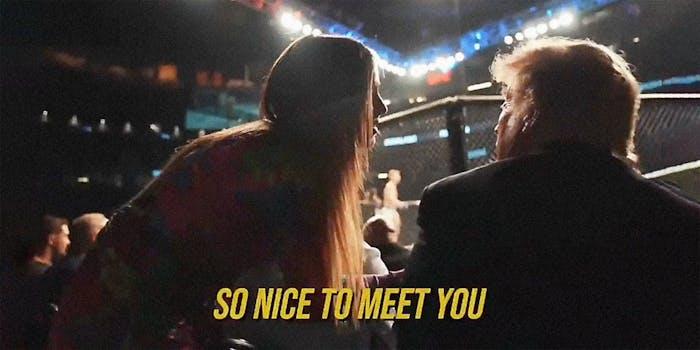 Addison Rae talking to Donald Trump.