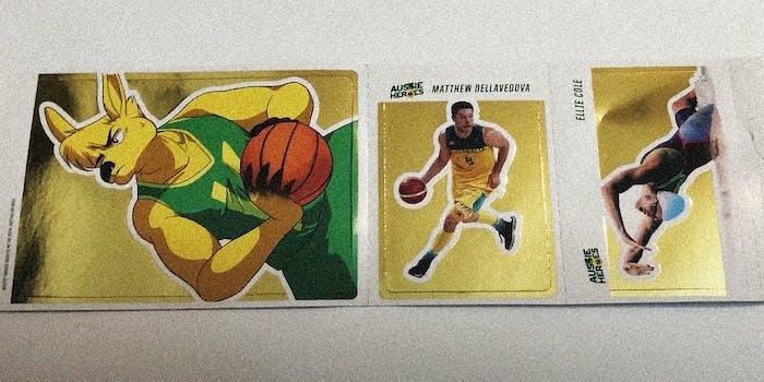 Athlete stickers.