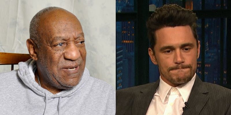 Bill Cosby and James Franco