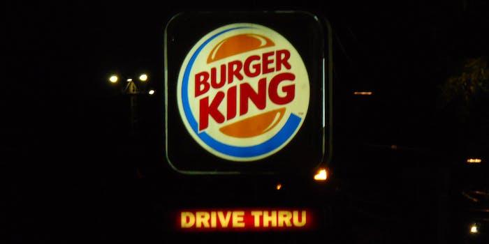 Burger King drive thru