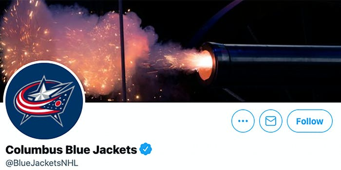columbus blue jackets twitter account
