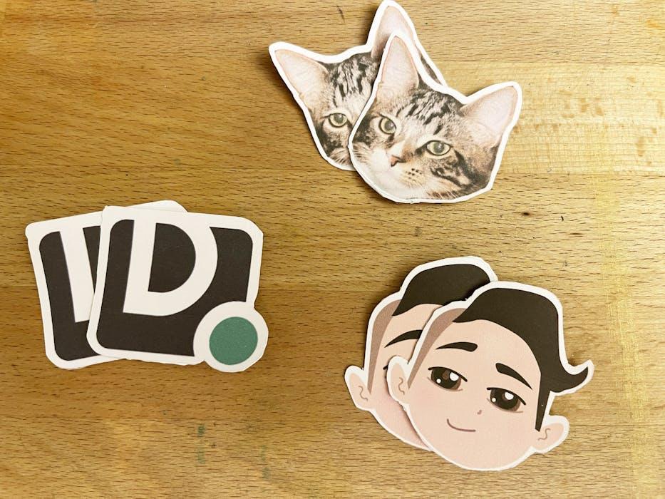 Cricut die-cut stickers