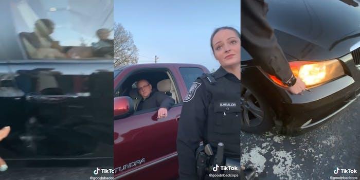 tiktok white cop gaslighting