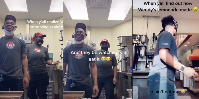 wendys employees claiming the meat is expired, azonte berry saying wendys lemonade is bad