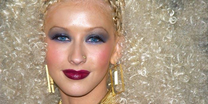 Christina Aguilera looking into camera.