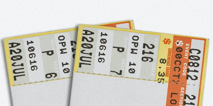 A pair of concert tickets.