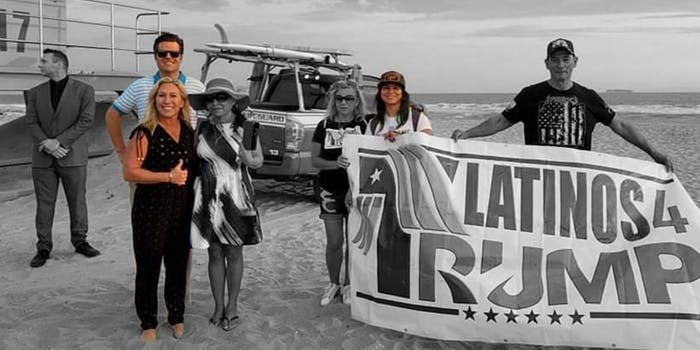 Matt Gaetz and Marjorie Taylor-Greene pose on beach with Capitol rioter Kennedy Lindsey