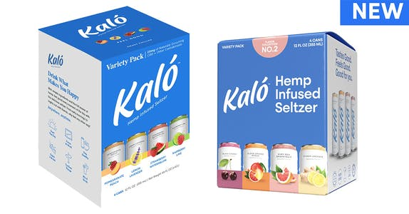 Kalo Hemp Drinks: The current two variety packs each feature four fruity and refreshing flavors.