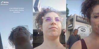 TikToker Lauren Scharf is seen being verbally harassed in public in a recent video.