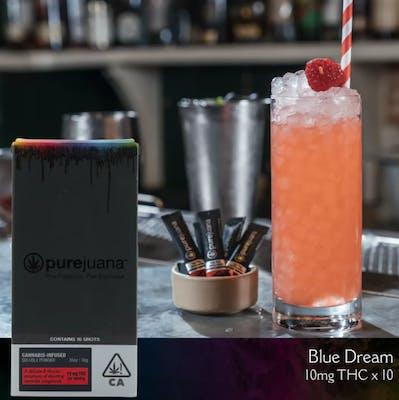 Purejuana liquid marijuana shot powder in a cocktail