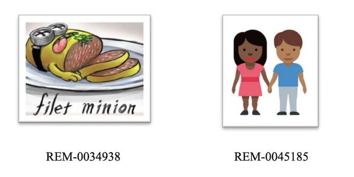 filet minion meme, stock cartoon of a couple