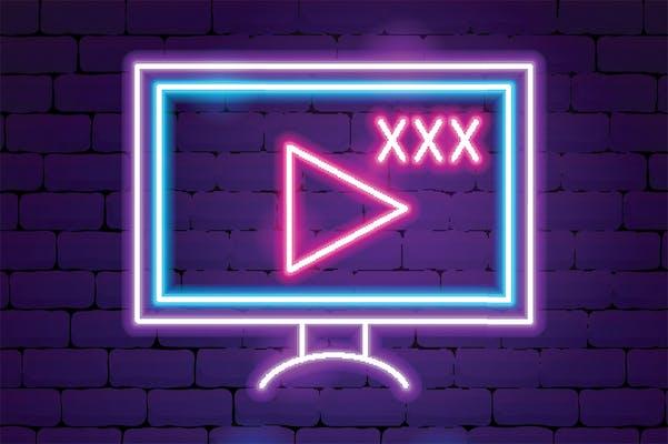A neon TV.