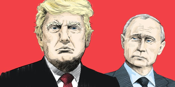 A cartoon of Trump and Putin.