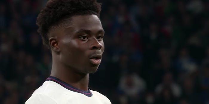 Bukayo Saka at euro final