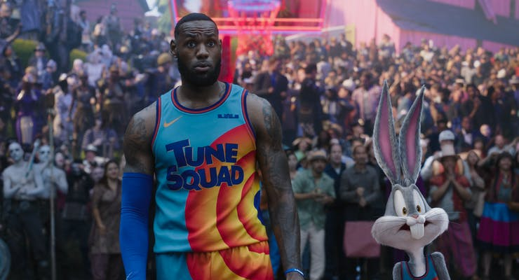 lebron james (left) and bugs bunny in space jam a new legacy
