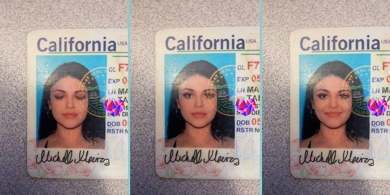 A California driver's license.