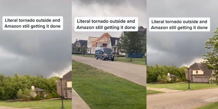 Amazon delivery tornado